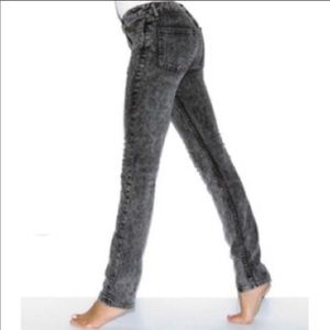 3/$30 American Apparel Black Acid Wash Jeans S 29